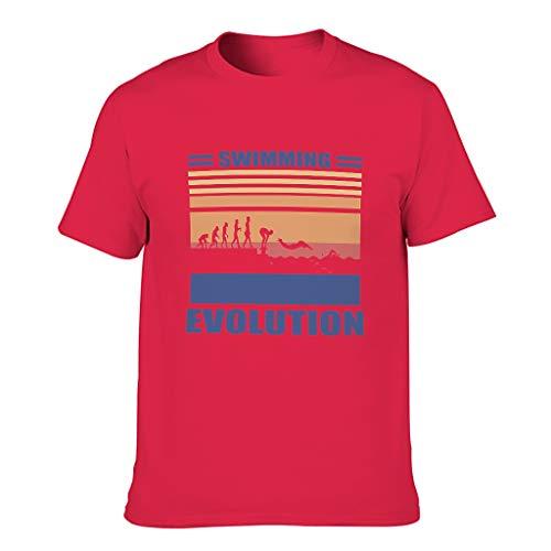 Lind88 - Camiseta de algodón para hombre, diseño de evolución
