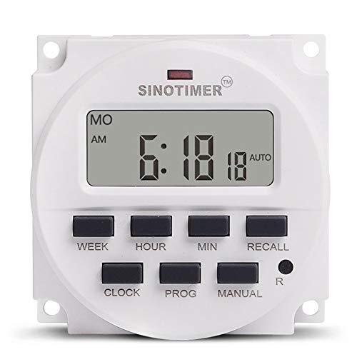 #N/V SINOTIMER TM618N-4 12 V LCD Digital AC Programable Temporizador Interruptor con relé UL en el interior con función de cuenta atrás