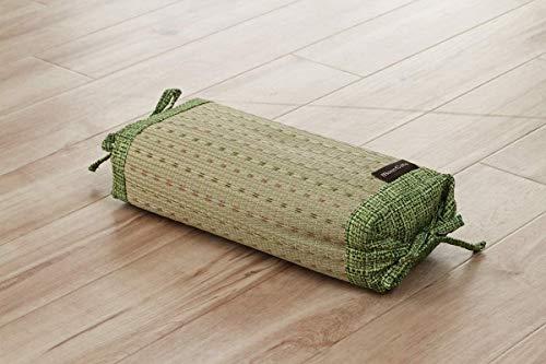 Ikehiko - Almohada tradicional japonesa en hierba Igusa natural, altura regulable, 30 x 15 cm, color verde 7559359