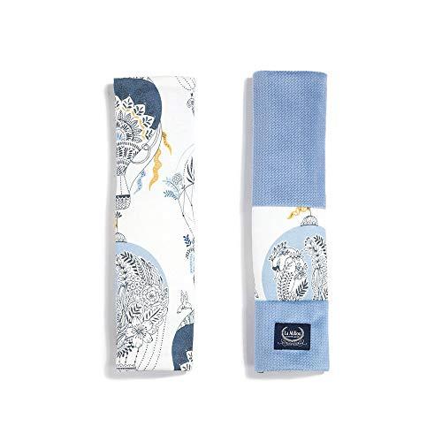 La Millou Organic Jersey Collection - Funda para cinturón de seguridad, color azul