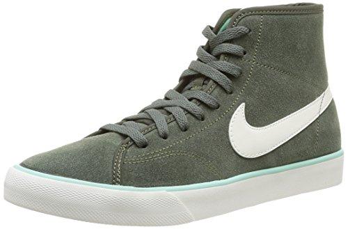 Nike 630656 302 Wmns Primo Court Mid Suede Damen Sneaker, Mehrfarbig (Cargo Khaki/Sail-Medium Mint) 40.5
