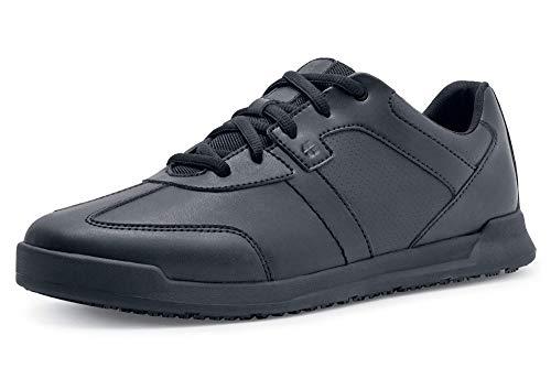 Freestyle II - Zapatos para hombre con suela antiderrapante para servicios de alimentos, Negro, 12
