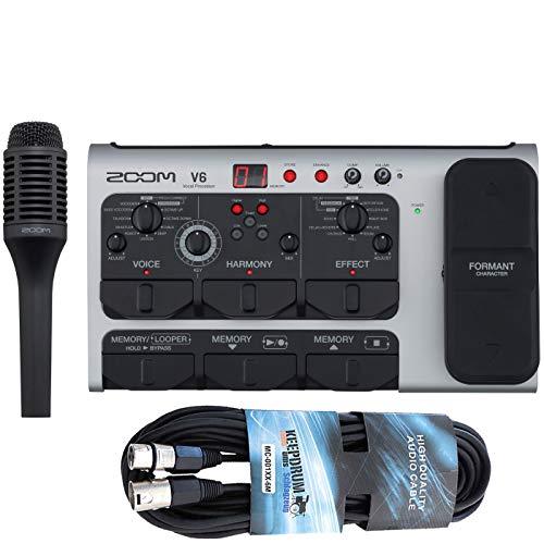 Zoom V6 Effektgerät für Gesang Vocal-Processor + XLR Kabel 6m