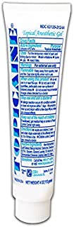 TOPICAINE Numbing Cream Topical anesthetic lidocaine 4% Gel 4 Oz. (113 Grams) Large for Repeat Treatments -Made in USA