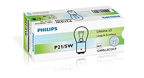 Philips LongLife EcoVision Señalización e iluminación interior convencional 12499LLECOCP - bombilla para coches (5W, P21/5W, Fog light, Parking light, Stop light)
