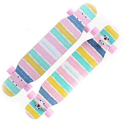 Shatong Professioneel skateboard met vier wielen voor volwassenen, multifunctioneel, multifunctioneel, dubbelzijdig surfplank, U-vormig, dubbel warped skateboard, beginners en dansen, lange plank