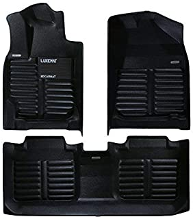 Luxemat Custom All Weather Premium Car Mat for 2017-19 Honda CRV | Anti-Slip Auto Flooring | Waterproof & Dirt Proof | Eco-Friendly & Easy to Clean (Black, PU Leather Material)