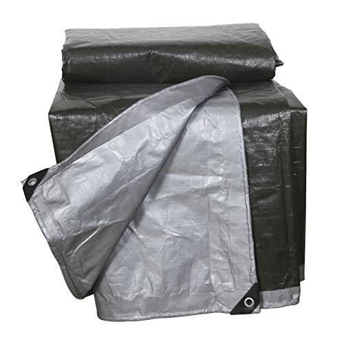 ZWYSL Cubierta del Camión del Coche De La Lona Paño De Plástico Verde Oscuro Lona Resistente Parabrisas Mantener Abrigado Lonas De Protección Impermeable 0,35mm De Espesor