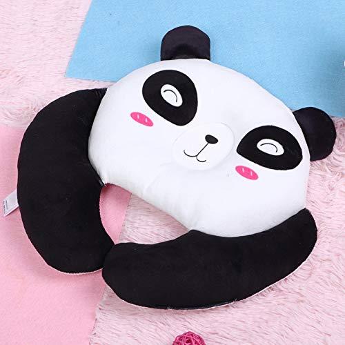 Malla transpirable 3D, almohada infantil, para viajes aéreos(Bear black)