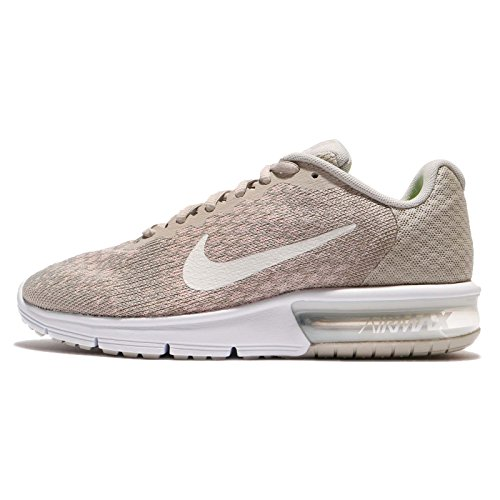 Nike Womens Air Max Sequent 2 Running Trainers 852465 Sneakers Shoes (UK 3 US 5.5 EU 36, Pale Grey Light Bone 011)