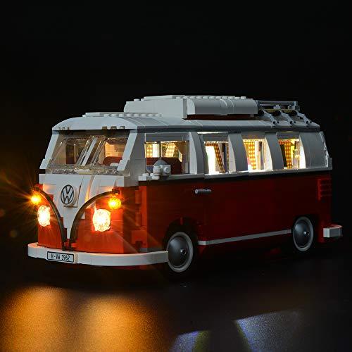 BRIKSMAX Kit de Iluminación Led para Furgoneta Volkswagen T1-Compatible con Ladrillos de Construcción Lego Modelo 10220-Juego de Legos no Incluido