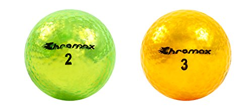 Chromax O.V. Optimal Visibility Golf Balls (6-Pack), Green/Gold