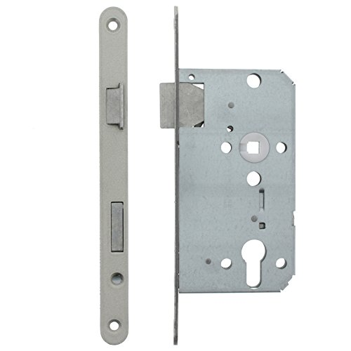 ToniTec Einsteckschloss Profilzylinder rechts für Zimmertür Falle + Riegel