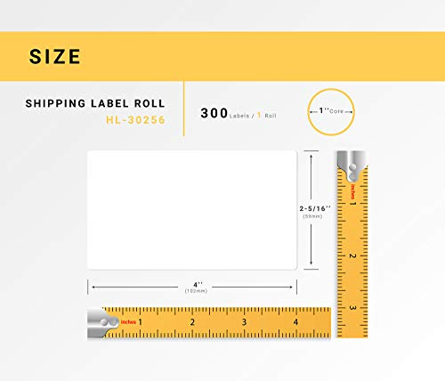 """HOUSELABELS Compatible DYMO 30256 Shipping Labels (2-5/16"""" x 4"""") Compatible with Rollo, DYMO LW Printers, 100 Rolls / 300 Labels per Roll Photo #6"""