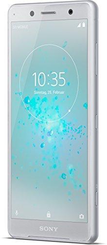 Sony Xperia XZ2 Compact Smartphone (12,7 cm (5,0 Zoll) IPS Full HD+ Bildschirm, 64 GB interner Speicher & 4 GB RAM, Dual-SIM, IP68, Android 8.0) white silver - Deutsche Version
