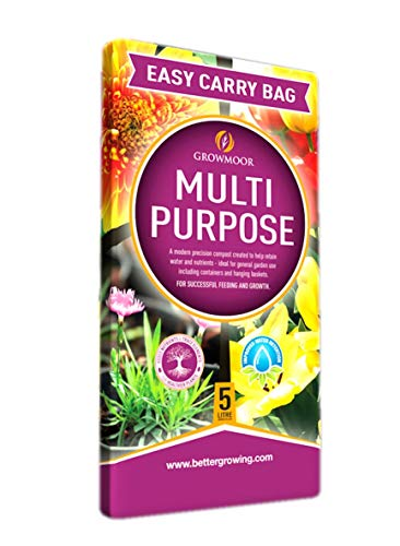 GROWMOOR 5 Litre Multi Purpose Compost Bag with Added Nutrients (1 Bag)