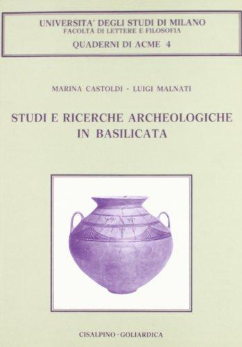Studi e ricerche archeologiche in Basilicata