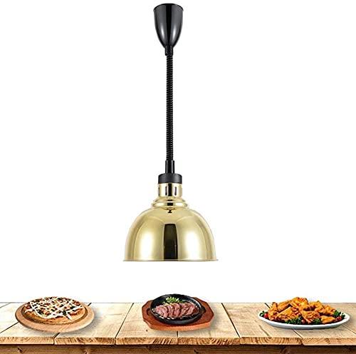 SHUHD. Lampada per riscaldamento alimentare lampada alimentare lampada per sostanzale a testa singolo Handging lunghezza regolabile 75-165 cm pizza riscaldamento lampada a buffet per food court, otton