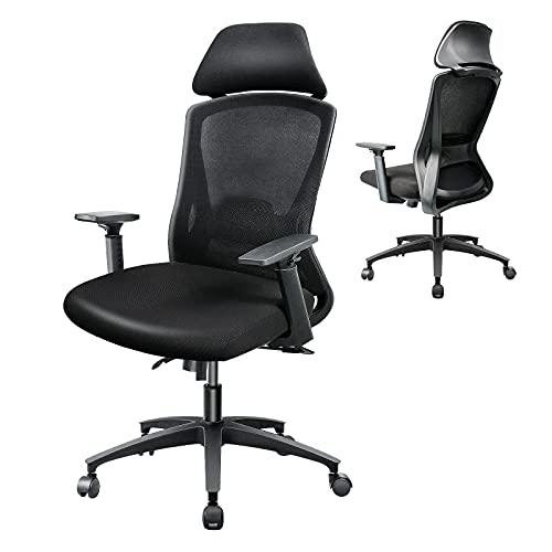 BYRORAS Sedia da Ufficio, Sedia Ergonomica, sedia da scrivania, sedia girevole con braccioli...
