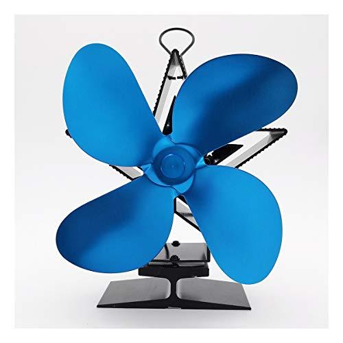 GMKJ Ventilador de energía térmica Azul Chimenea del