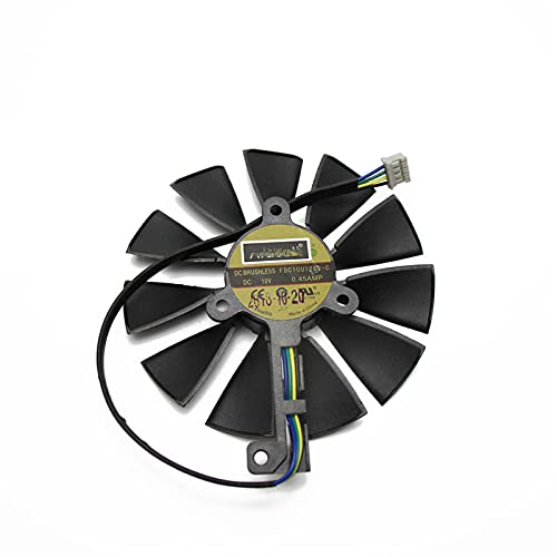 87mm t129215sh FDC10U12S9-C 4PIN RTX 2060 2070 2080 TI Tarjeta de GPU Fans para ASUS para GEFORCE RTX2080 RTX2080TI Tarjeta de Juego Ventilador (Blade Color : White)