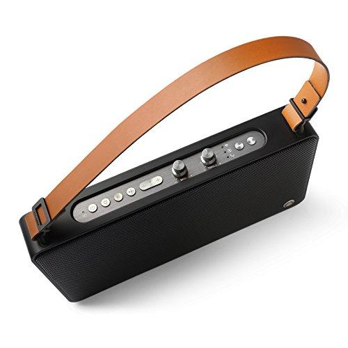 GGMM WLAN-Lautsprecher, Multiroom-Lautsprecher mit Höhen- & Bassregler; Satter So& & kraftvoller Bass 20W Treiber, Unterstützt die Anbindung an Spotify, Airplay, DLNA, iHeartRadio, schwarz