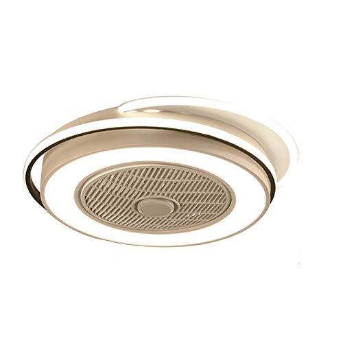 Ventilador de techo de 23 pulgadas con iluminación, lámpara con mando a distancia regulable ultra silencioso.