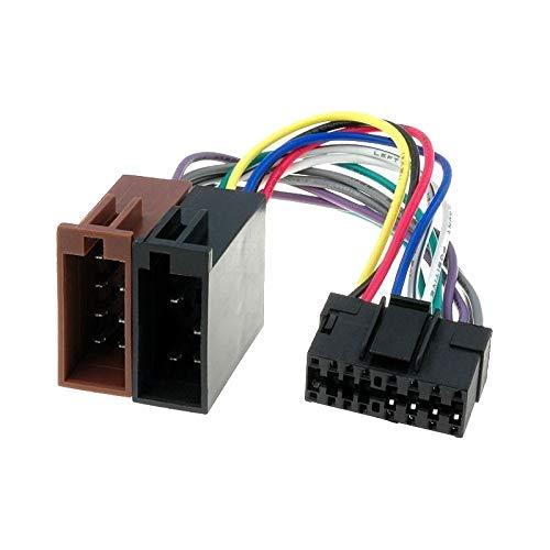 Cable adaptador de radio para el coche, conector ISO JVC, 16pines