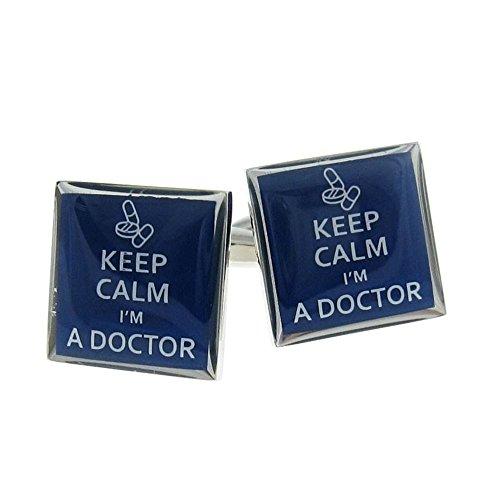 Procuffs Keep Calm I 'm a Doctor Manschettenknöpfe Geschenk + BOX & Reiniger