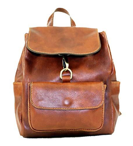 BZNA Firenze Bag Amy cognac Rucksack vegetable tanned Backpacker Italy Designer Damen Handtasche Ledertasche Schultertasche Tasche Leder Neu