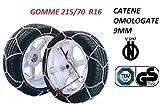RICAMBIITALIA2017 Set Catene da Neve 9 millimetri per Auto OMOLOGATE TUV GS - V5117 Gruppo 70 (GOMME...