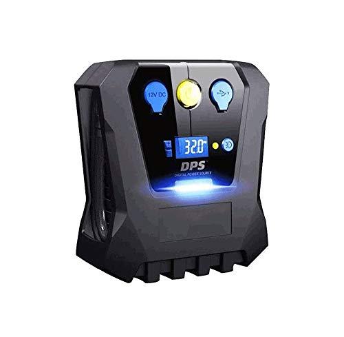 SMSOM Digital neumático del Coche de 12V DC Rendimiento portátil de la Bomba del compresor de Aire for el Coche, Bicicleta, Motocicleta, Baloncesto y Otros