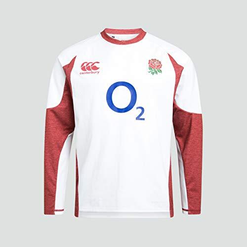 Canterbury England Rugby Mens Vaposhield Tech Drill Long Sleeve Top