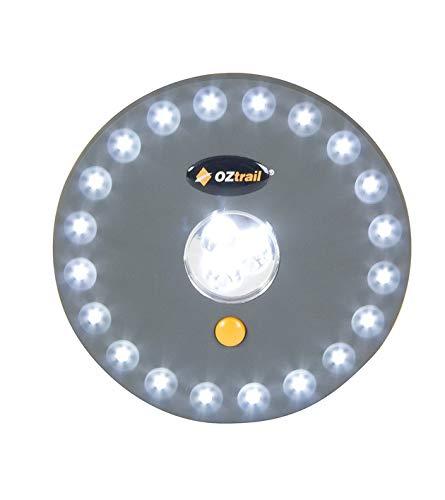 UFO Zelt-Licht GCL-UFO-C 23LED UFO Tent Light 4AA 100Lumen 13 x 2 cm, 95gr Camping Lampe Beleuchtung Batteriebetrieben 4xAA Nachtlicht Garten Outdoor