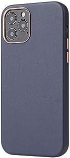 """Premium Leather Case for iPhone 12 Mini, Elegant Slim Case, 5.4"""" Screen Size (Blue)"""