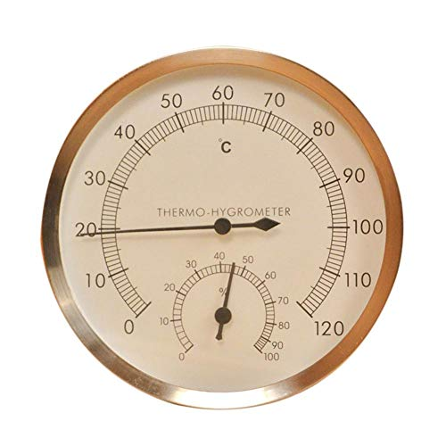 Sauna thermometer hygrometer - Indoor Outdoor hygrometer analoge hygrometer thermometer sauna hygrometer voor de keuken thuis, goud