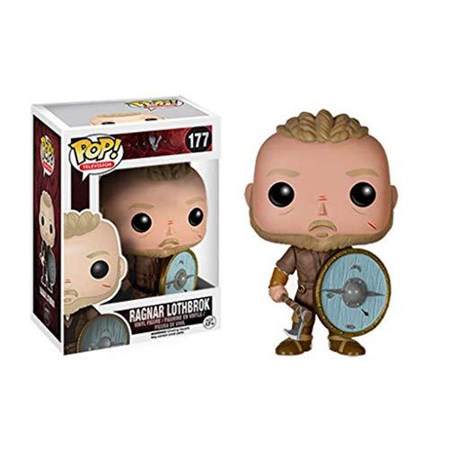 PY TV: Vikingos - Ragnar Lothbrok: Pop!Popular y Precioso Figura de Dibujos Animados de PVC con envases Exquisita la Mejor colección de Vikingos tamaño de Aficionados: 10 cm