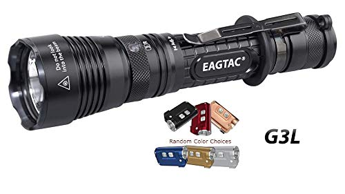 Value Bundle: EAGTAC G3L Type-C Rechargeable Tactical Flashlight - CREE XHP70.2 LED - 3200 Lumens - Upgrade of G25C2 with 1x TINI Micro USB Rechargeable Keychain Light(Random choice of colors)
