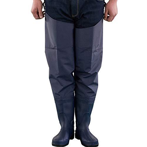 Asdfghur5 Rubber Hip Wading Boots, PVC Fishing Wading Pants Hunting Wader.Blue-70 Silk,Blue-40