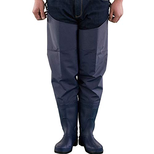 Asdfghur5 Rubber Hip Wading Boots, PVC Fishing Wading Pants Hunting Wader.Blue-70 Silk,Blue-40