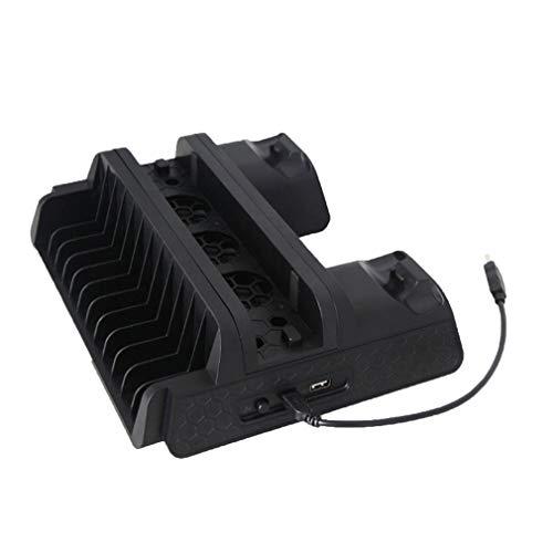 Soporte Vertical TP4-882 para Cargador de Controlador Dual de Ventilador de refrigeración PS4 / Slim/Pro (Negro)