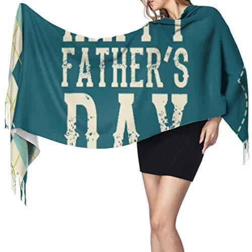 Feliz Día del Padre Gracias Papá Pañuelo Barato Mujeres Chal Abrigo Señoras...