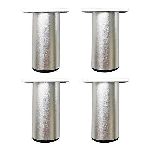 Qrity 4 Piezas Patas de Muebles Armario de Aleación de Aluminio Patas de Cocina Sofá Mesa de Metal 80mm