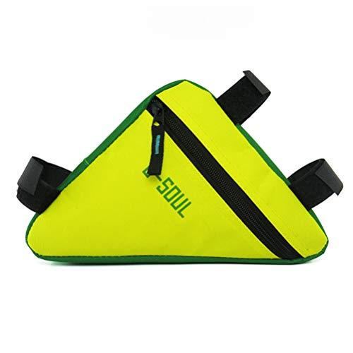 Bike Triangle Bag Fietsframetas Waterdichte fietstas Fietsaccessoires geel, groen, geel