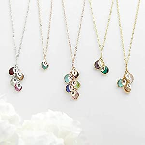 Mothers day Gift Personalized Gift for Women Grandma Gifts Birthstone Necklace Initial Necklace for Women Gifts for Her…