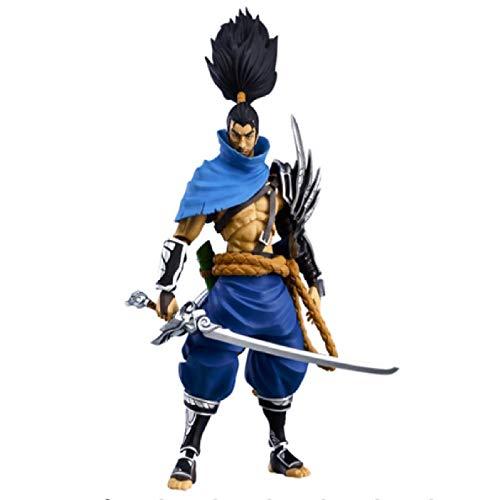 ZFF-DM 2020 Neue Anime (Action Figure) Figur Yasuo & The Unforgiven Anime Modell PVC - Anime Fans, die erste Wahl for Geschenke 2020 (Color : Blue)