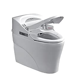 Ove Decors SMART TOILET Single Flush System and Heated Seat with Remote Control, White 5 <p>Requires power outlet Warm water and air wash Water consumption of 4.8 lpf (1.28 gpf) Built-in memory system regulates water and seat settings Water pressure and temperature adjustability</p>