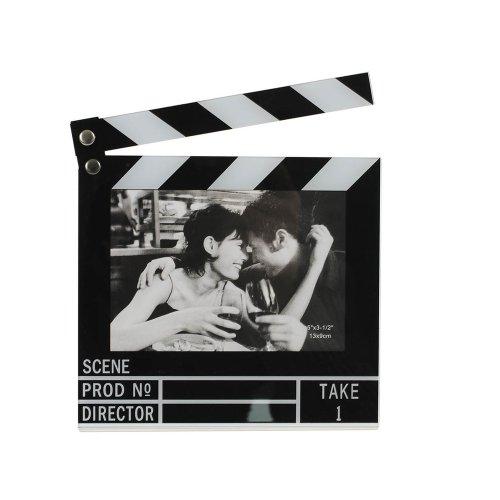 HAB & GUT -FR010- Bilderrahmen Filmklappe, beweglich für Fotos im Format 9 x 13 cm