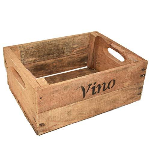Dadeldo Home Kiste -Vino- Holz 12x23x21cm Natur Dekoration Vintage