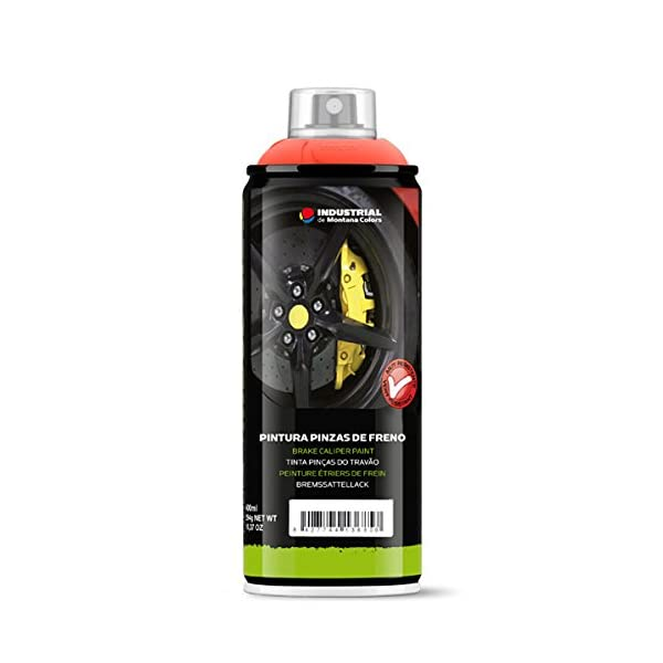 Montana Colors MTN Spray Pintura Pinzas de Freno Amarillo – Pintura alta Temperatura, Amarillo, 400 ml